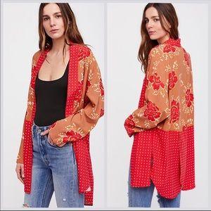 Free people forget me knot kimono medium